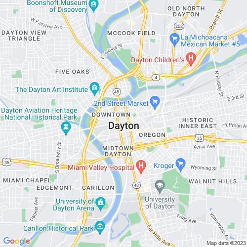 Map of Dayton, OH