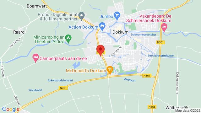 Dokkum+Renault op Google Maps