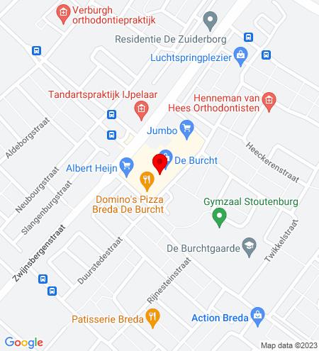 Google Map of De Burcht 8 4834 HE Breda