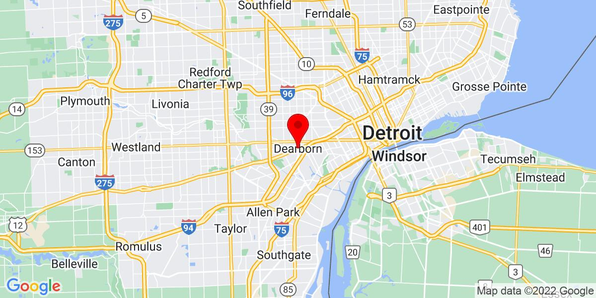 Google Map of Dearborn, MI