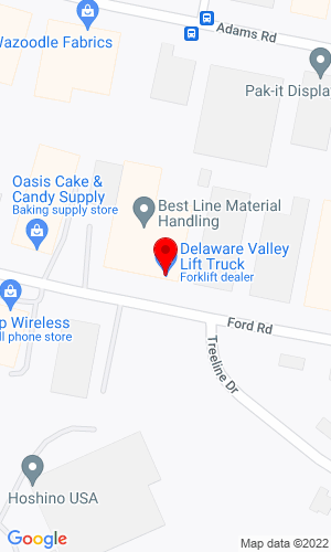 Google Map of Delaware Valley Lift Truck 1311 Ford Road , Bensalem, PA, 19020
