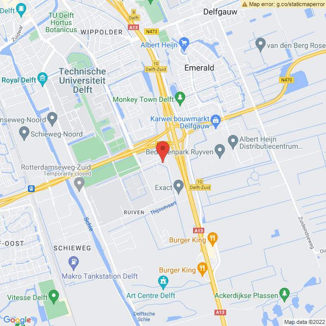 Google Map of Delft Molengraafsingel 12