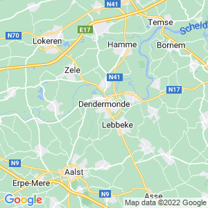 Werkgebied van onze bestrijder in Dendermonde
