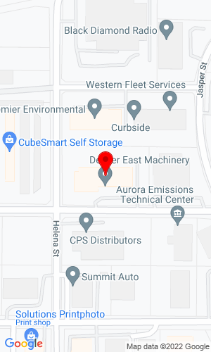 Google Map of Denver East Machinery Company 15507 E. 18th Ave, Aurora, CO, 80011