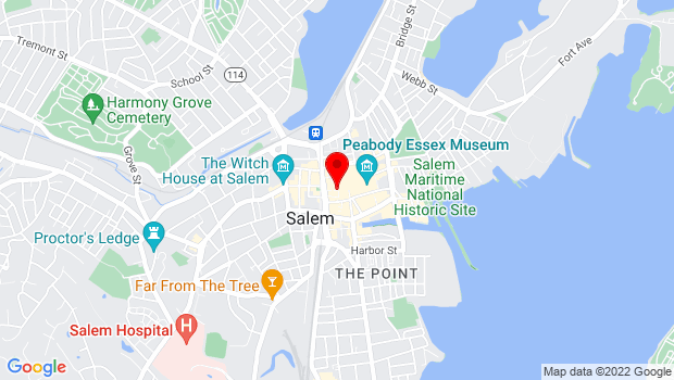 Google Map of Derby Square, Salem, MA