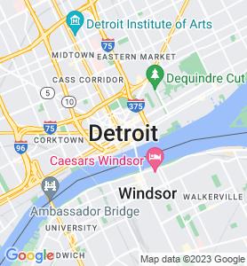 Detroit MI Map