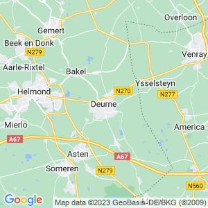 Werkgebied van onze bestrijder in Deurne