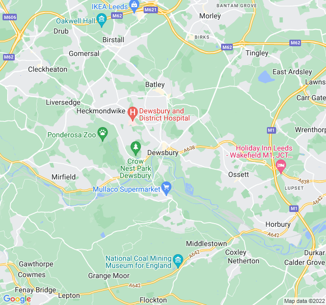 Website Designer Dewsbury Google map of location