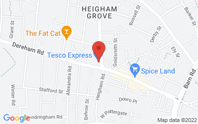 Map of Tesco Dereham Road