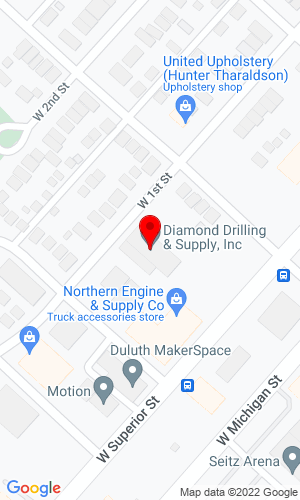 Google Map of Diamond Drilling 2916 West First Street , Duluth, MN, 55806