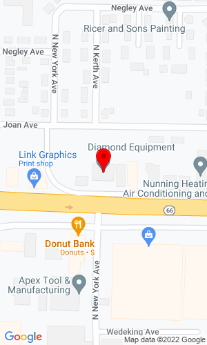 Google Map of Diamond Equipment, Inc. 1060 E Diamond Avenue, Evansville, IN, 47711
