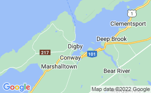 Map of Digby Campground