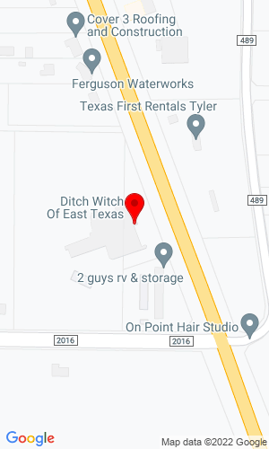 Google Map of Ditch Witch East Texas 7717 US Hwy 69 N, Tyler, TX, 75706