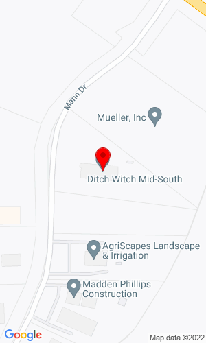Google Map of Ditch Witch Mid-South 3681 Old Getwell Road, Memphis, TN, 38118