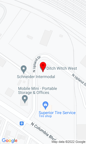 Google Map of Ditch Witch Northwest 7909 N. Upland Drive, Portland, OR, 97203
