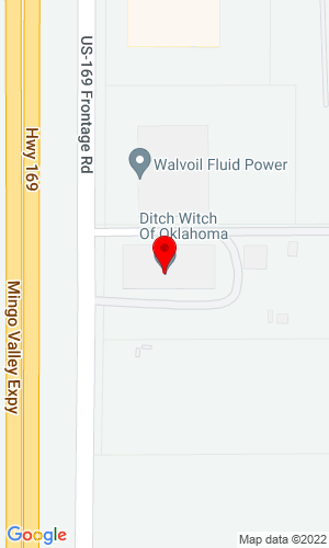 Google Map of Ditch Witch Sales & Service El Paso 10033 Railroad Drive, El Paso, TX, 79924