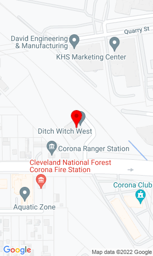 Google Map of Ditch Witch Southern California 1201 E 6th Street, Corona, CA, 92879