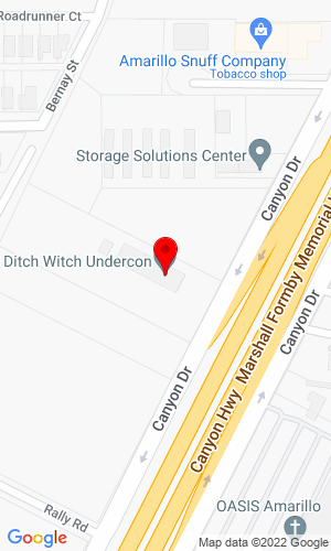 Google Map of Ditch Witch UnderCon 8418 Canyon Drive, Amarillo, TX, 79119
