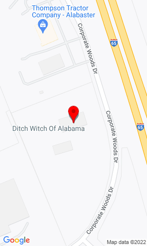 Google Map of Ditch Witch of Alabama 2200 Corporate Woods Drive, Birmingham, AL, 35007