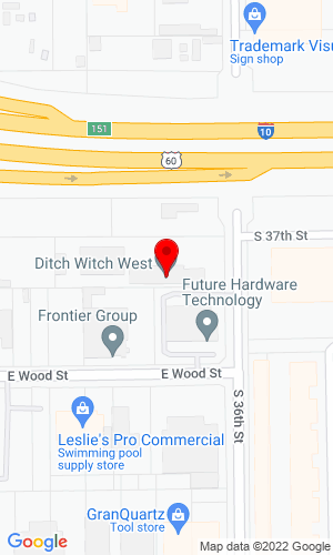 Google Map of Ditch Witch of Arizona 4028 South 36th Street, Phoenix, AZ, 85040