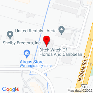 Google Map of Ditch Witch of Florida+4501+Oakes+Road+Ft.+Lauderdale+FL+33314