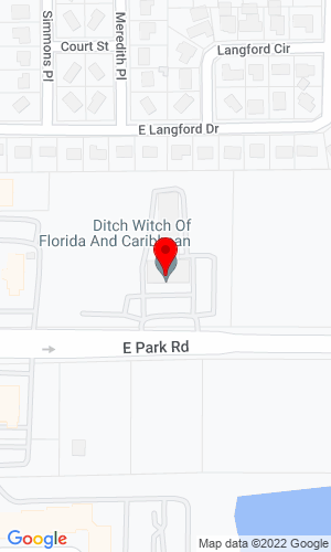 Google Map of Ditch Witch of Florida 506 East Park Road, Plant City, FL,
