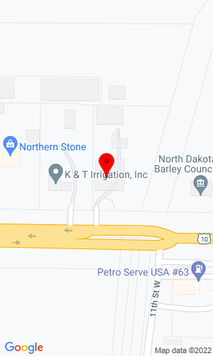 Google Map of Ditch Witch of North Dakota 1100 West Main Avenue, West Fargo, ND, 58078