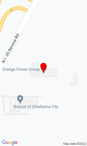 Google Map of Ditch Witch of Oklahoma 9000 N I-35 Service Road, Oklahoma City, OK, 73131,