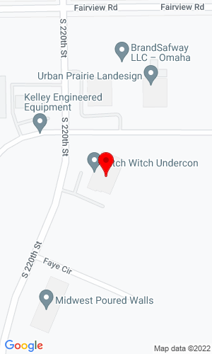 Google Map of Ditch Witch of Omaha 10304 Sapp Brothers Drive, Omaha, NE, 68138