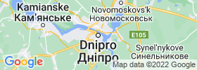 Dnipropetrovsk map