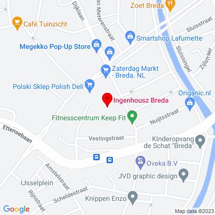 Google Map of Doctor Jan Ingen Houszplein 42 4814 EH Breda