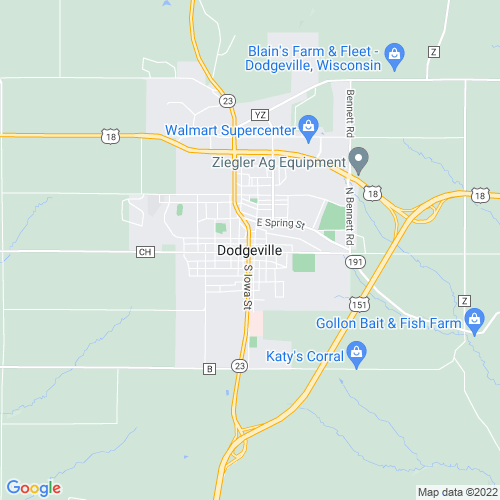 Map of Dodgeville, WI