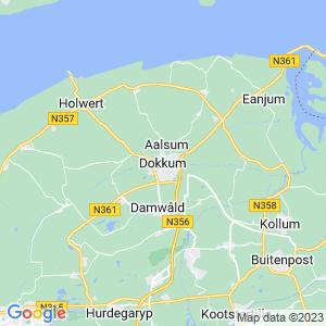 Werkgebied van onze bestrijder in Dokkum