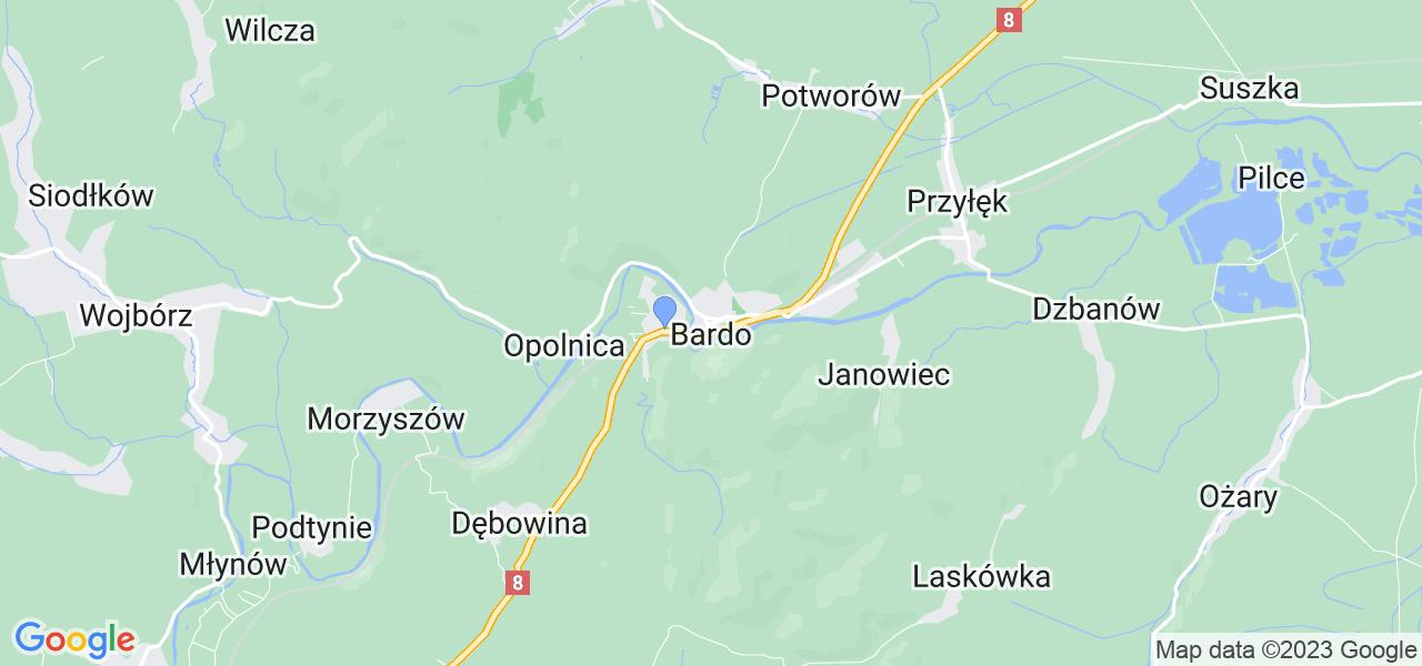 Dostępne w Bardzie lokalizacje punktów nadania, z których możesz skorzystać, chcąc wysłać turbinę do regeneracji w największym serwisie w Polsce