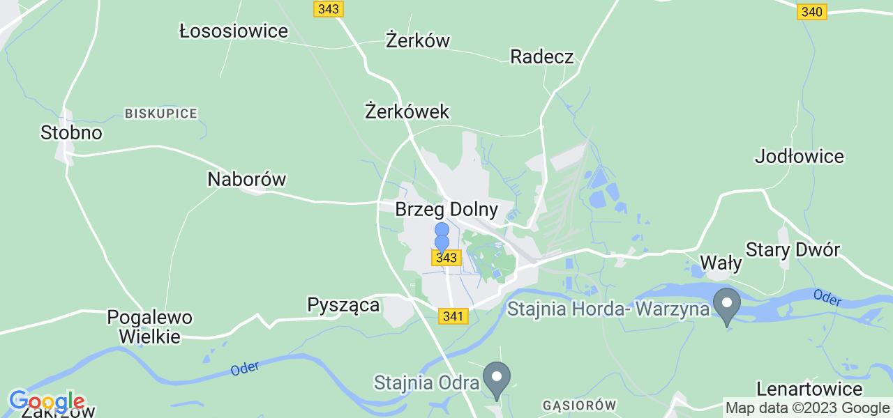 Dostępne w Brzegu Dolnemu lokalizacje punktów nadania, z których możesz skorzystać, chcąc wysłać turbinę do regeneracji w największym serwisie w Polsce