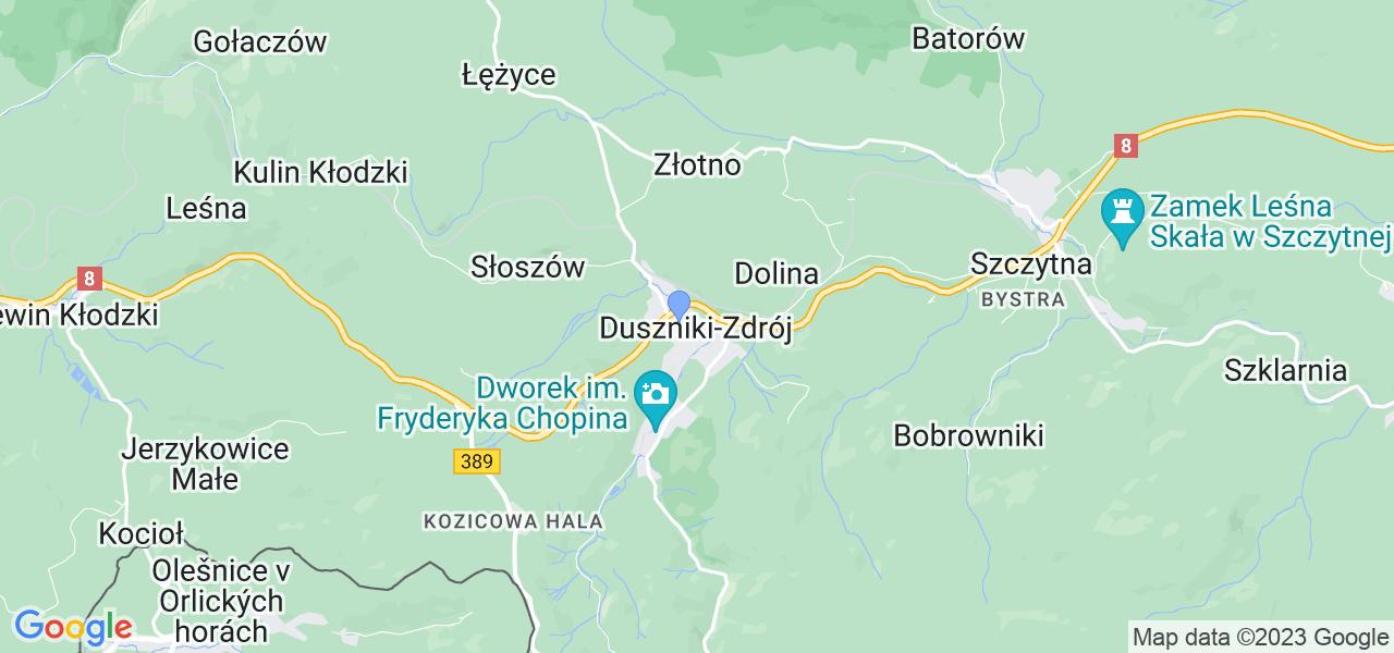 Dostępne w Dusznikach-Zdroju lokalizacje punktów nadania, z których możesz skorzystać, chcąc wysłać turbinę do regeneracji w największym serwisie w Polsce