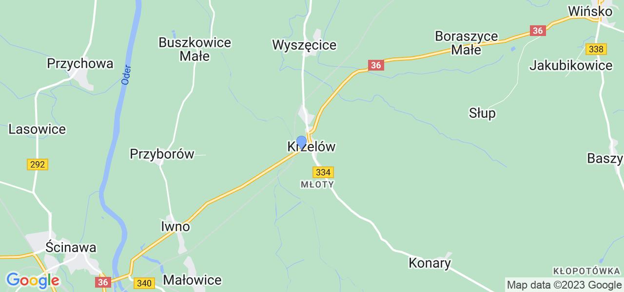Dostępne w Krzelowie lokalizacje punktów nadania, z których możesz skorzystać, chcąc wysłać turbinę do regeneracji w największym serwisie w Polsce