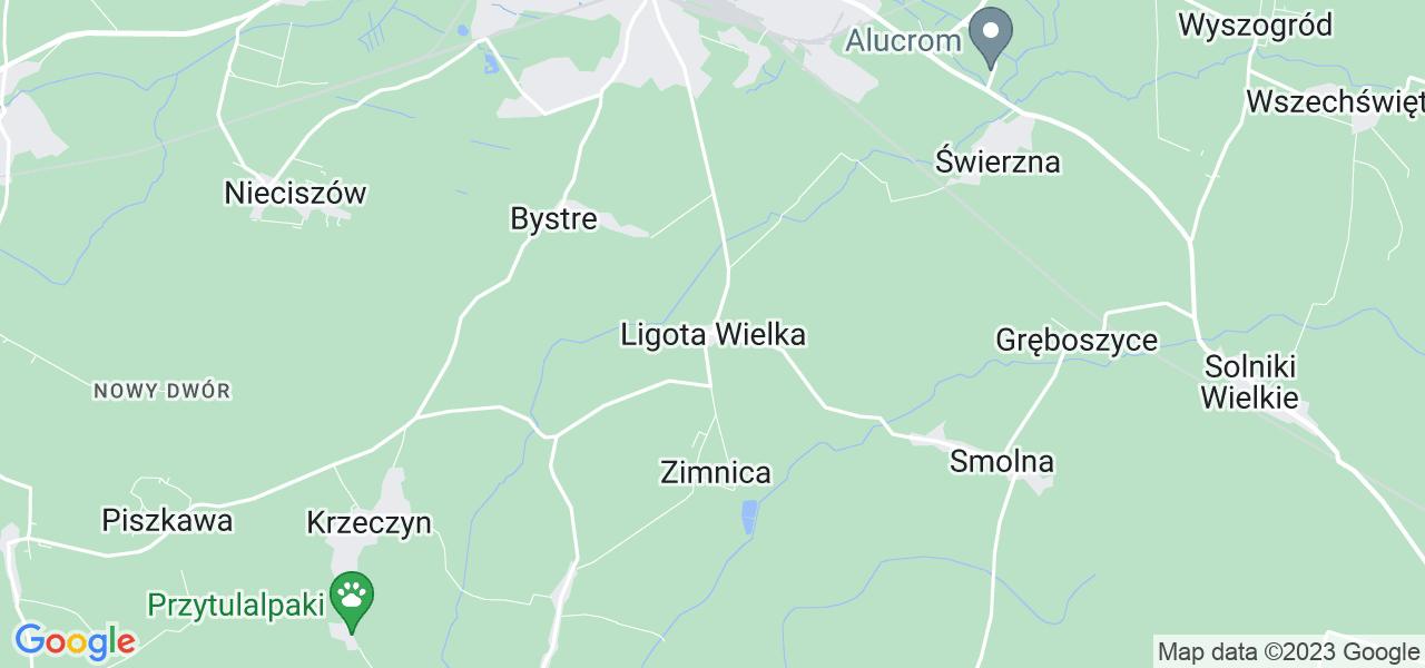 Dostępne w Ligocie Wielkiej lokalizacje punktów nadania, z których możesz skorzystać, chcąc wysłać turbinę do regeneracji w największym serwisie w Polsce