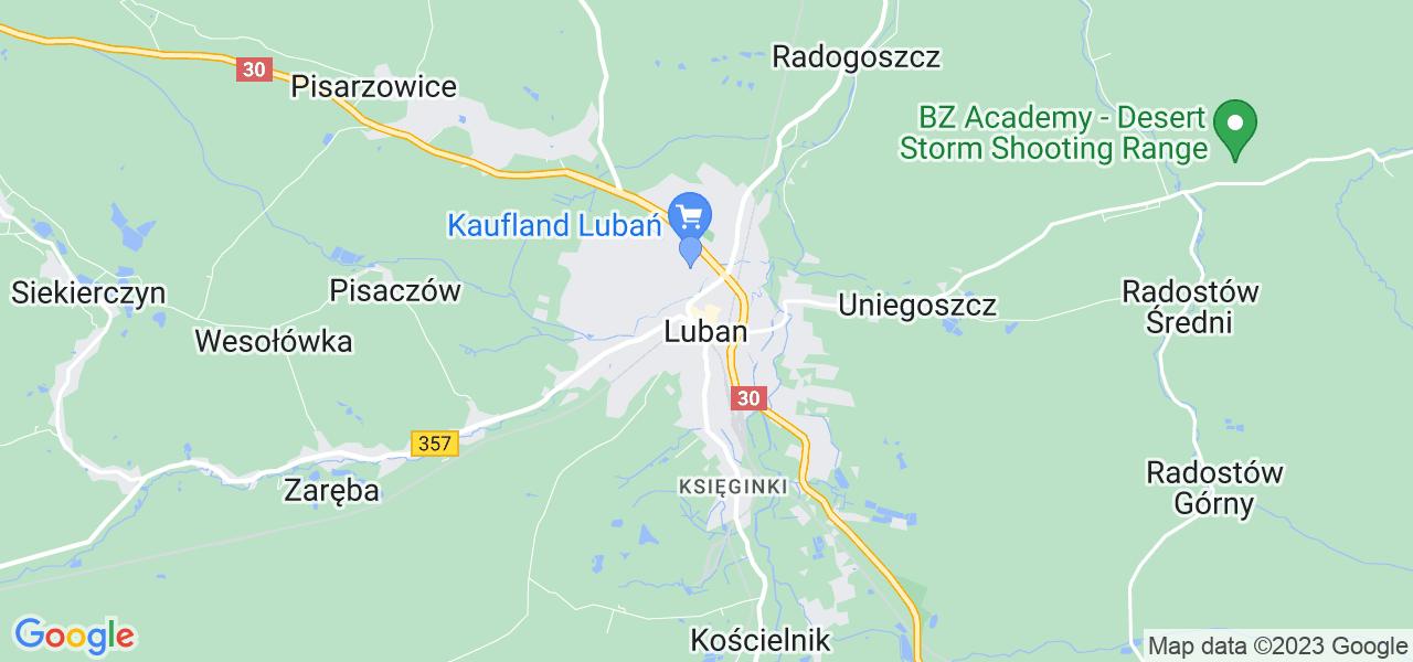 Dostępne w Lubaniu lokalizacje punktów nadania, z których możesz skorzystać, chcąc wysłać turbinę do regeneracji w największym serwisie w Polsce