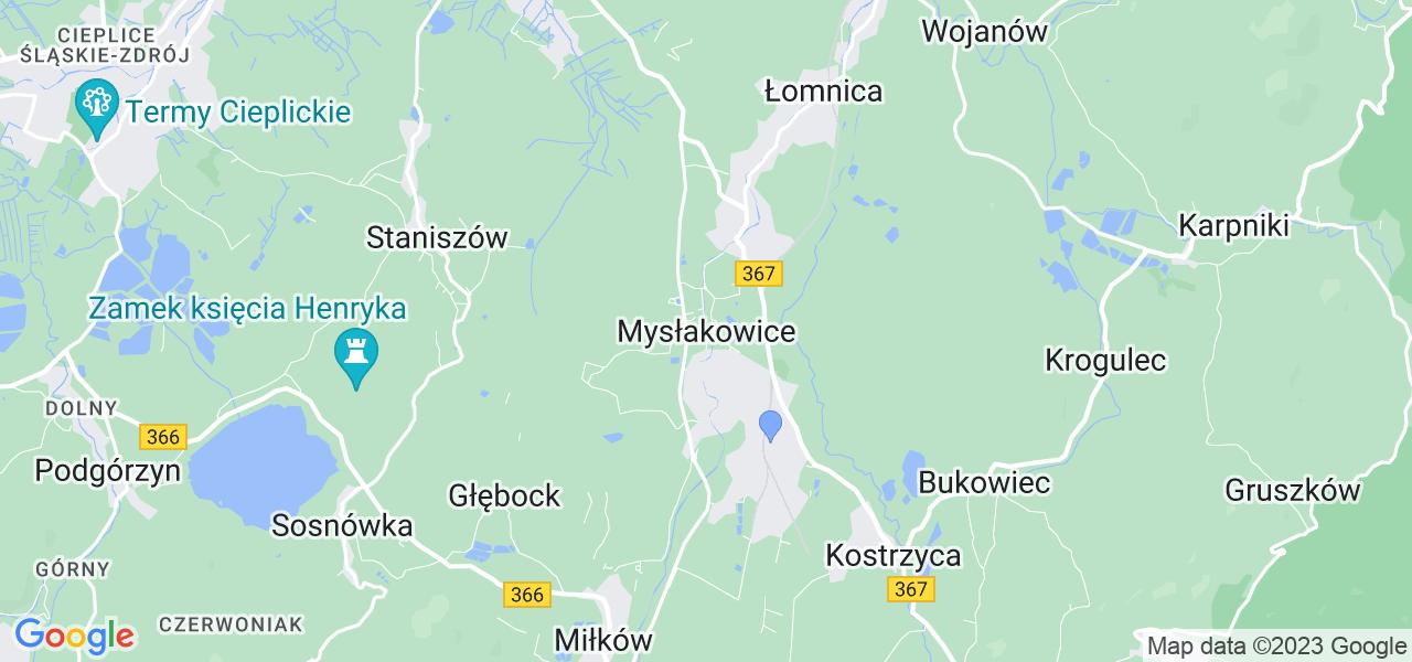 Dostępne w Mysłakowicach lokalizacje punktów nadania, z których możesz skorzystać, chcąc wysłać turbinę do regeneracji w największym serwisie w Polsce