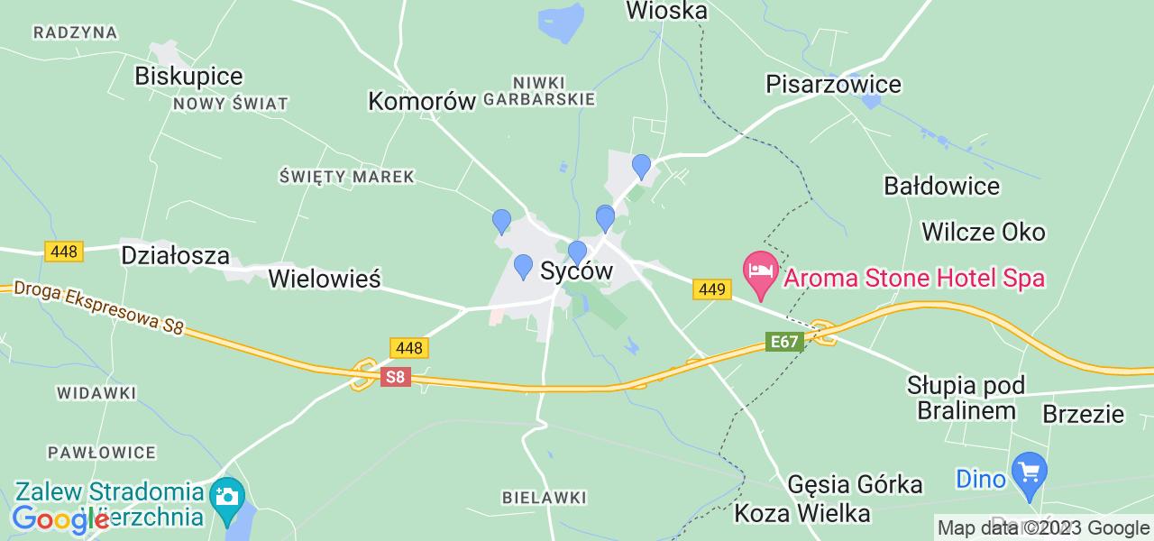 Dostępne w Sycowie lokalizacje punktów nadania, z których możesz skorzystać, chcąc wysłać turbinę do regeneracji w największym serwisie w Polsce