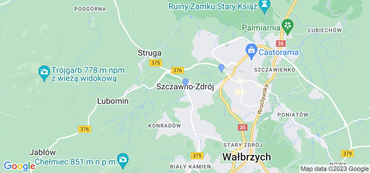 Dostępne w Szczawnie-Zdroju lokalizacje punktów nadania, z których możesz skorzystać, chcąc wysłać turbinę do regeneracji w największym serwisie w Polsce