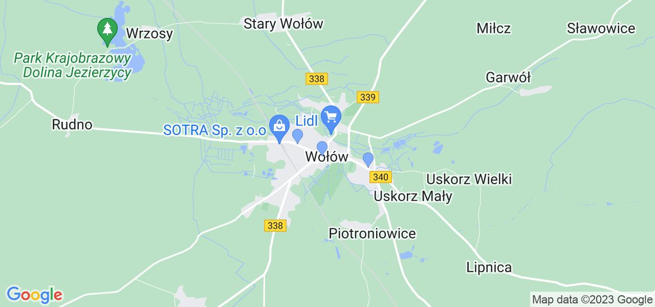 Dostępne w Wołowie  lokalizacje punktów nadania, z których możesz skorzystać, chcąc wysłać turbinę do regeneracji w największym serwisie w Polsce