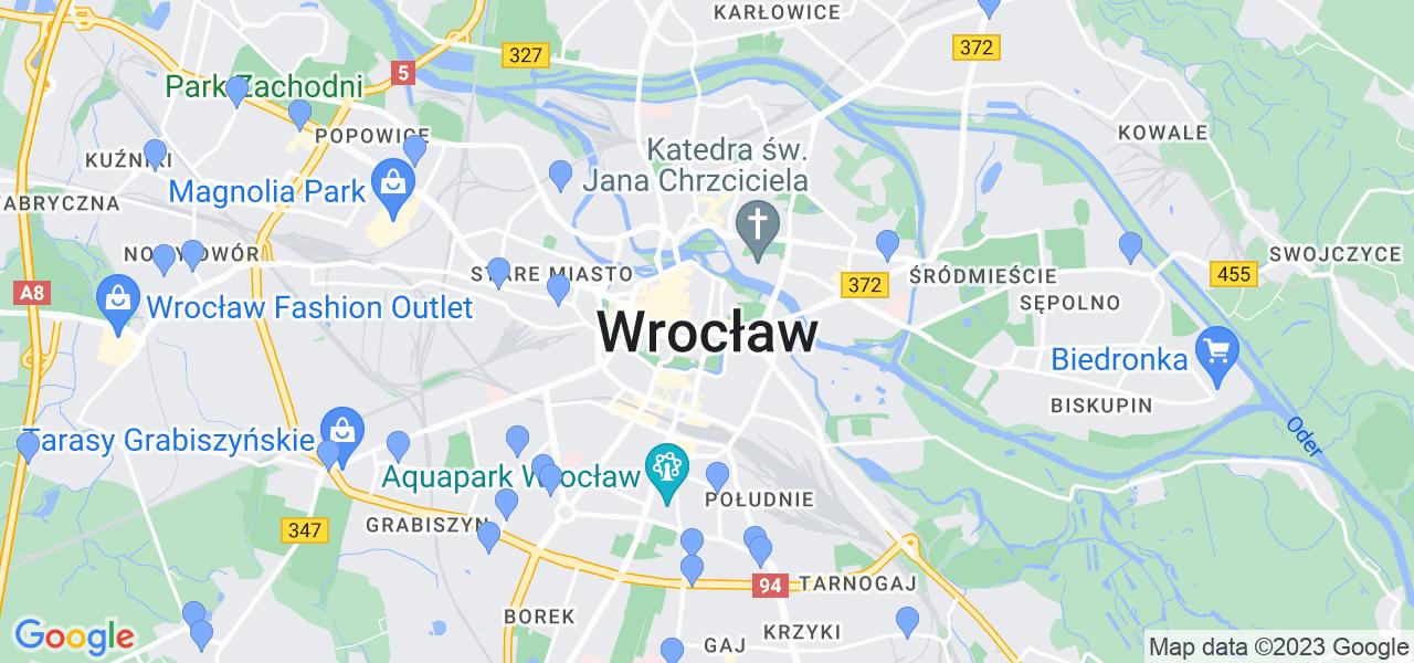 Dostępne w Wrocławiu punkty wysyłki, z których można wysłać zdemontowany filtr DPF/FAP do czyszczenia w specjalistycznej pracowni