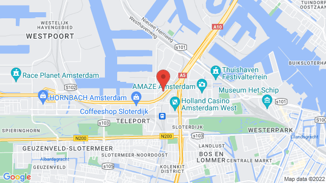 Amsterdam+West op Google Maps