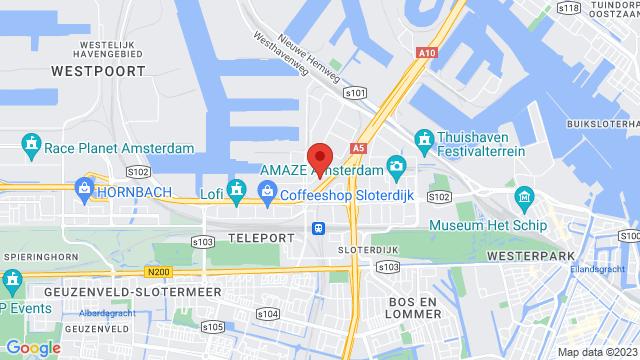 Amsterdam+West op Google Maps