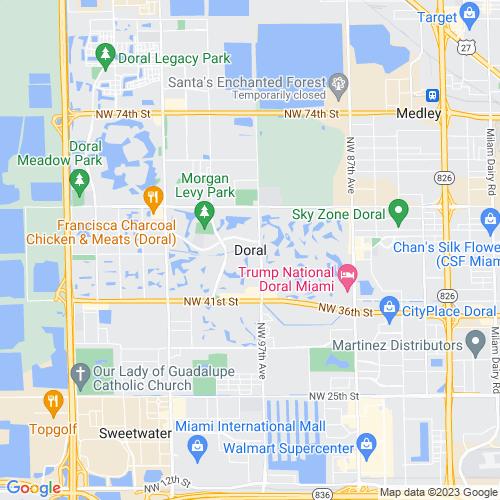 Map of Doral, FL