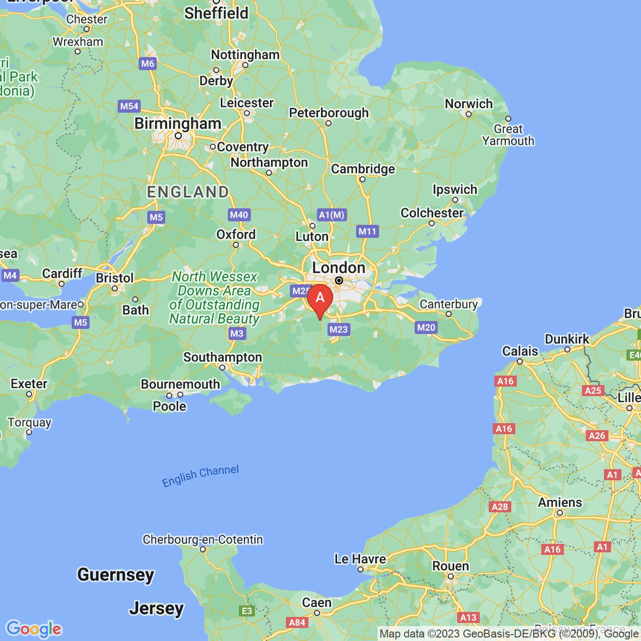 Dorking, England Map