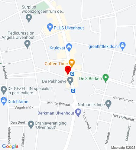 Google Map of Dorpstraat 88 4851 CN Ulvenhout