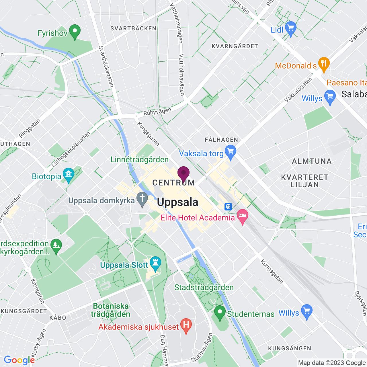 Karta över Dragarbrunnsgatan 36 C